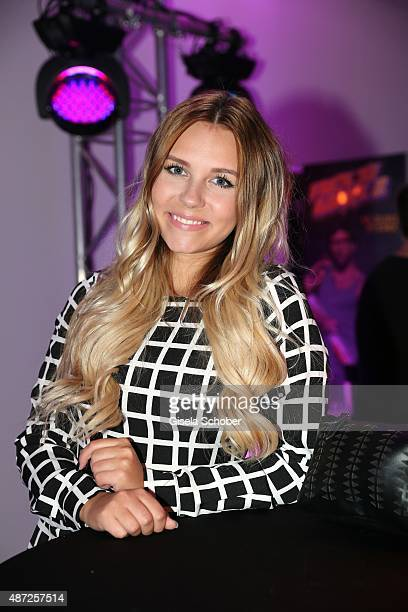 Dagi Bee during the world premiere of 'Fack ju Goehte 2' afterparty at Burger Lobster Bank on September 7 2015 in Munich Germany