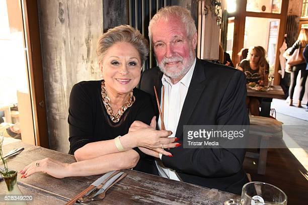 Dagmar Frederic and her husband Klaus Lenk attend the Anjoy Restaurant Opening on May 04 2016 in Berlin Germany