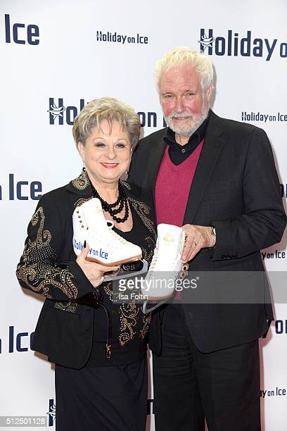 Dagmar Frederic and her husband Klaus Lenk attend the 'Holiday on Ice: Passion' Berlin Premiere on February 26, 2016 in Berlin, Germany.