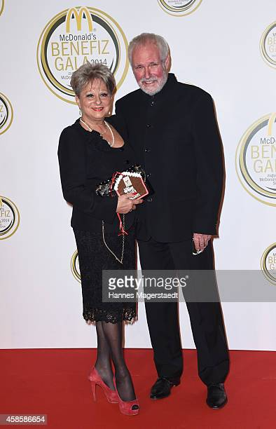 Dagmar Frederic and her husband Klaus Lenk attend the McDonald's charity gala on November 7 2014 in Weissach near RottachEgern Germany