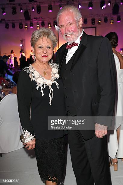Dagmar Frederic and her husband Klaus Lenk during the 70th anniversary of Arthur Brauner's CCC Film Studios on September 23 2016 in Berlin Germany