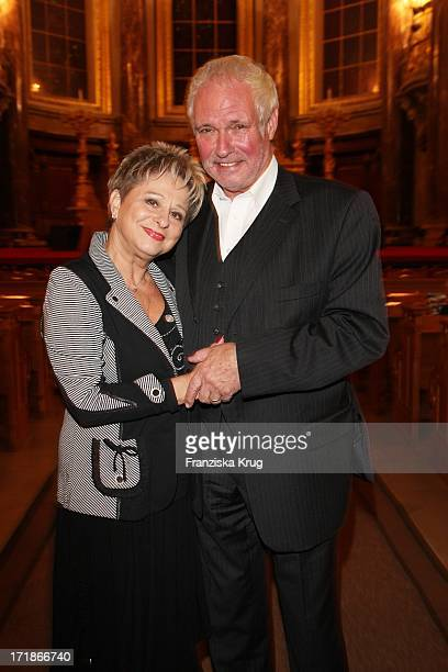 Dagmar Frederic And Husband Dr Klaus Lenk at the everyone Premiere In Berlin Cathedral in Berlin