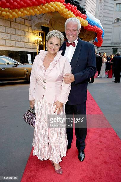 Dagmar Frederic and husband Klaus Lenk attend the 8. Russian-German Ball at the Embassy of the Russian Federation on September 4, 2009 in Berlin,...