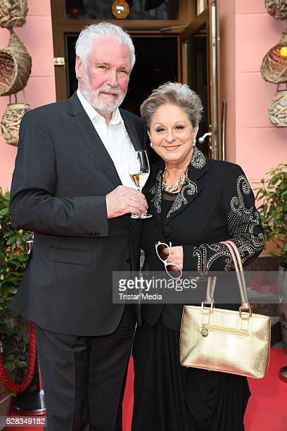 Dagmar Frederic and husband Klaus Lenk attend the Anjoy Restaurant Opening on May 04 2016 in Berlin Germany