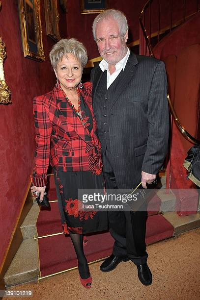 Dagmar Frederic and Klaus Lenk attend the Am Rande Der Nacht Germany premiere at the Wintergarten on February 16 2012 in Berlin Germany