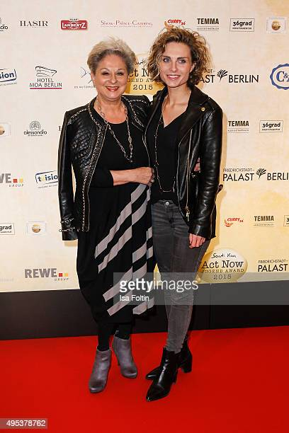 Dagmar Frederic and Maxie Frederic attend the 1st Act Now Jugend Award at FriedrichstadtPalast on November 2 2015 in Berlin Germany