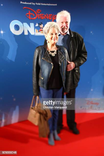 Dagmar Frederic and partner Ehemann Klaus Lenk attends the Disney on Ice premiere 'Fantastische Abenteuer' at Velodrom on March 8 2018 in Berlin...