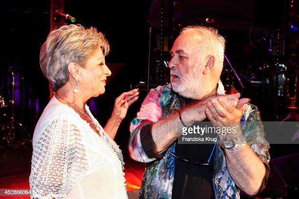 Dagmar Frederic and Udo Walz attend the Udo Walz Celebrates His 70th Birthday at BAR jeder Vernunft on July 28 2014 in Berlin Germany