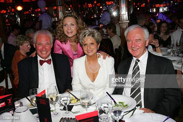 "Dagmar Frederic case with husband Klaus Lenk, daughter Maxi And Transport Minister Manfred Stolpe your 60th Birthday ""Pomp & Circumstance Daggi""..."