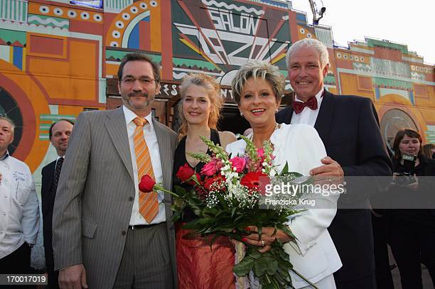 "Dagmar Frederic Celebrates With husband Klaus Lenk, Prime Minister of Brandenburg Matthias Platzeck And Jeanette Jesorka your 60th Birthday at ""Pomp,..."
