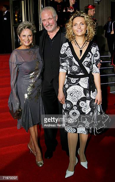 Dagmar Frederic with her husband Klaus Lenk and daugther Maxie arrive at the Goldene Henne awards at the Friedrichstadtpalast on September 20 2006 in...