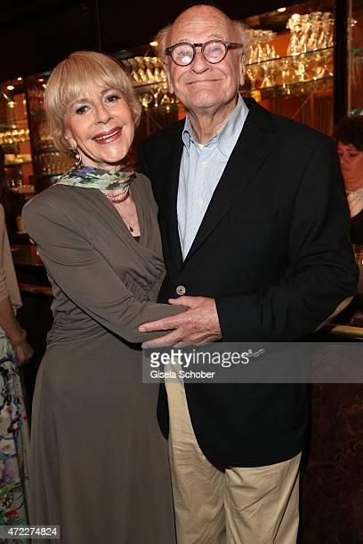 Dagmar Hessenland and her husband Dieter Schaad during the premiere of the play 'Altweiberfruehling' at Komoedie im Bayerischen Hof on May 5, 2015 in...
