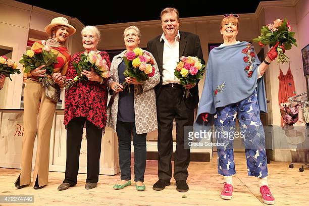 Dagmar Hessenland Ellen Schwiers Katerina Jacob Holger Schwiers Heide Ackermann during the premiere of the play 'Altweiberfruehling' at Komoedie im...