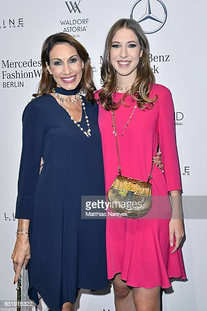 Dagmar Koegel and Alana Siegel attend the Riani show during the MercedesBenz Fashion Week Berlin A/W 2017 at Kaufhaus Jandorf on January 17 2017 in...