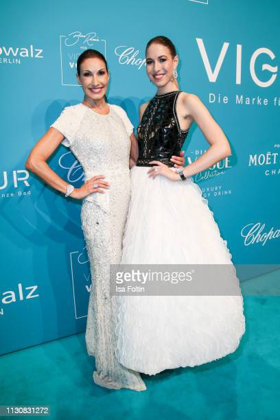 Dagmar Koegel and her daughter Alana Siegel attends the presentation of the collection VIGOUR vogue by designer Brian Rennie at arena Berlin on...