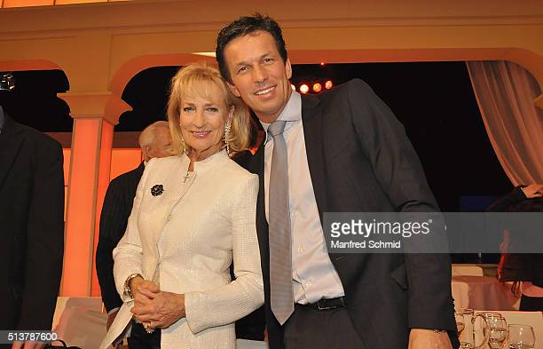 Dagmar Koller and Michael Balgavy attend the TV Show 'Dancing Stars' at ORF Studio on March 4 2016 in Vienna Austria