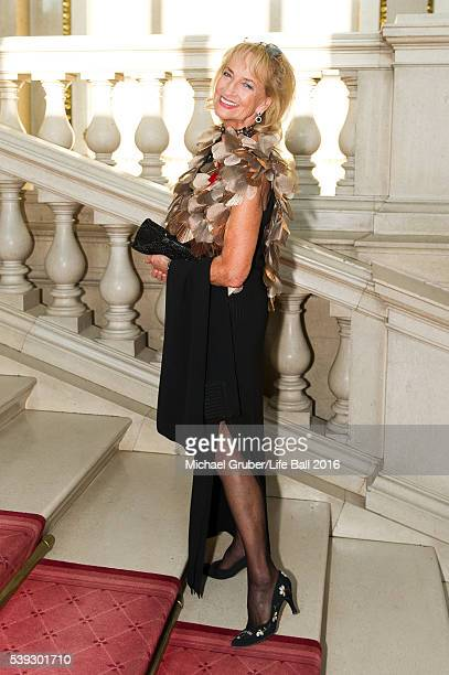 Dagmar Koller attends the Red Ribbon Celebration Concert at Burgtheater on June 10 2016 in Vienna Austria The Red Ribbon Celebration Concert is a...