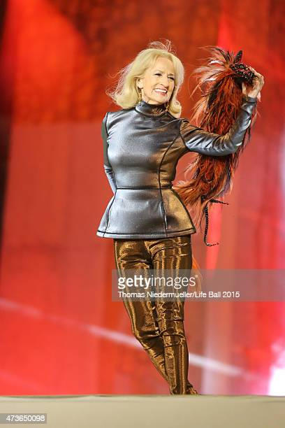 Dagmar Koller performs during the Life Ball 2015 show at City Hall on May 16 2015 in Vienna Austria