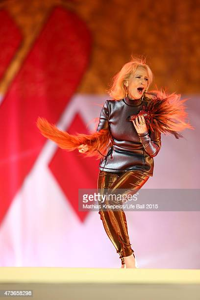 Dagmar Koller walks the runway during the Life Ball 2015 show at City Hall on May 16 2015 in Vienna Austria