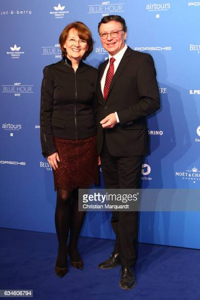 Dagmar Reim and Volker Herres and attends the Blue Hour Reception hosted by ARD during the 67th Berlinale International Film Festival Berlin on...