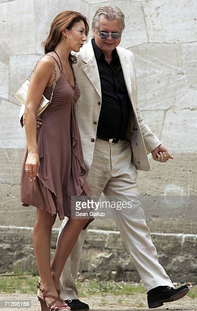 Dagmar Siegel and Karlheinz Koegel attend the wedding of German TV host Guenther Jauch at the Belvedere Palace on July 7 2006 in Potsdam Germany
