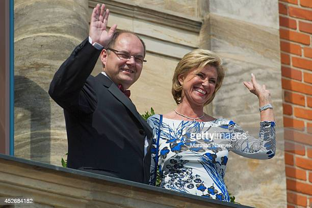 Dagmar Woehrl and Christian Schmidt attend the Bayreuth Festival Opening 2014 on July 25 2014 in Bayreuth Germany
