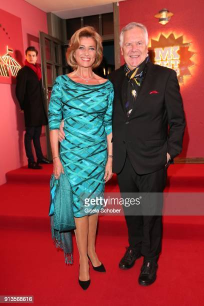 Dagmar Woehrl and her husband Rudolf Woehrl during Michael Kaefer's 60th birthday celebration at Postpalast on February 2 2018 in Munich Germany