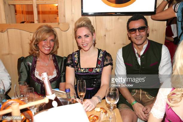 Dagmar Woehrl Danila Langguth and Erol Sander during the 28th Weisswurstparty at Hotel Stanglwirt on January 25 2019 in Going near Kitzbuehel Austria
