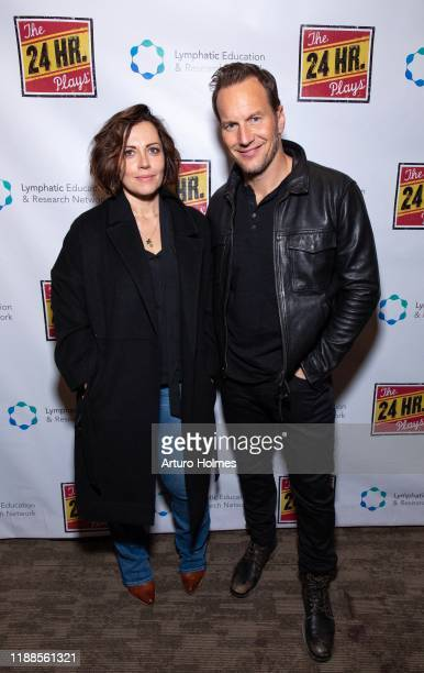 Dagmara Domińczyck and Patrick Wilson attend The 24 Hour Plays Broadway Gala at Laura Pels Theatre at the Harold Miriam Steinberg Center for on...