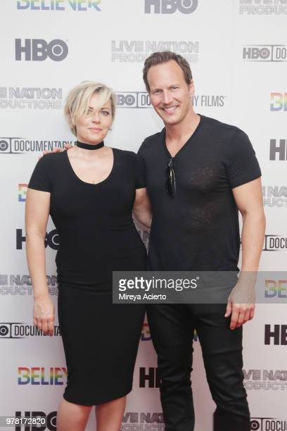 Dagmara Dominczyk and actor Patrick Wilson attend the Believer New York Premiere at Metrograph on June 18 2018 in New York City