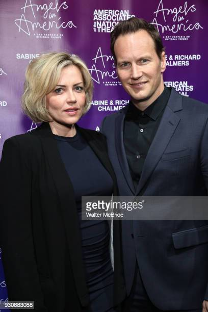 Dagmara Dominczyk and Patrick Wilson attend The American Associates of the National Theatre's Gala celebrating Tony Kushner's 'Angels in America' on...