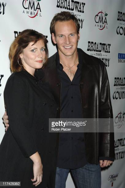 Dagmara Dominczyk and Patrick Wilson during Country Takes New York City - Broadway Meets Country - Outside Arrivals at Allen Room, Jazz at Lincoln...