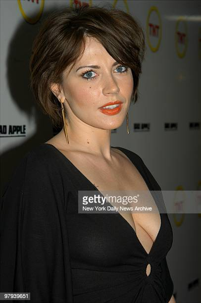Dagmara Dominczyk is on hand at the premiere of the movie 'Bad Apple' at the Loews Cineplex theater She stars in the madeforTV flick