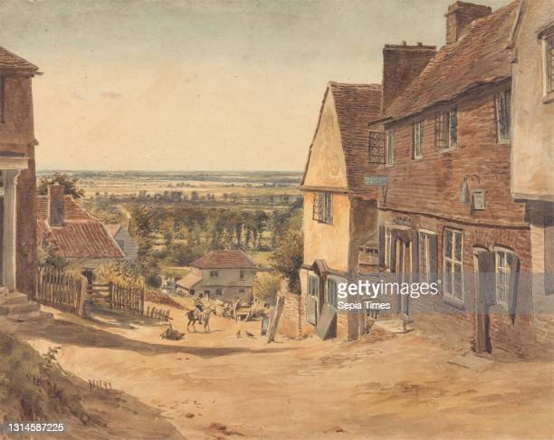 Dagnall Lane, St. Albans, William Henry Hunt, 1790–1864, British, ca. 1820, Watercolor and graphite on moderately thick, slightly textured, cream...
