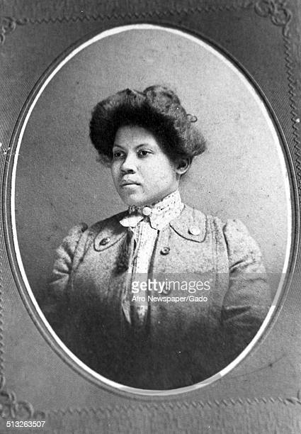 Daguerreotype of African-American woman in turn-of-the-century America, 1890.