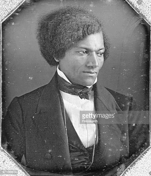 Daguerreotype portrait of exslave and American abolitionist Frederick Douglass as a young man 1848 He became the first black man to be received at...