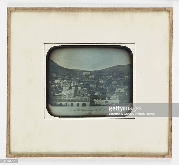 A daguerreotype view of Athens looking from the base of the Acropolis This daguerreotype made in 1852 is a copy of a salt print made from a calotype...