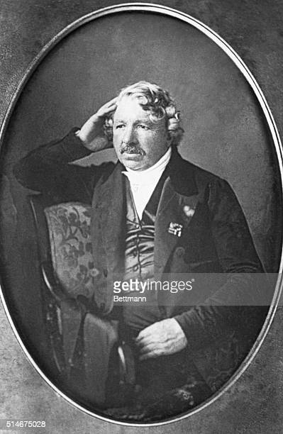 A daguerrotype of LouisJacquesMande Daguerre the French physicist and inventor whose photographic innovation was the beginning of popular photography...