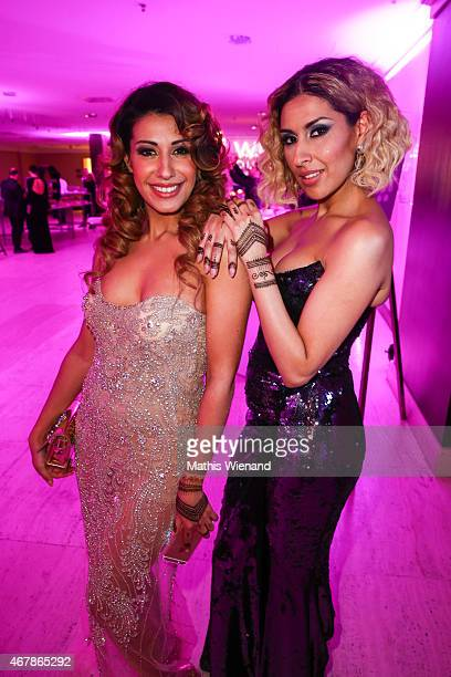Dahab Guemmour and Senna Guemmour attend the Gloria Deutscher Kosmetikpreis 2015 at Hilton Hotel on March 27 2015 in Duesseldorf Germany