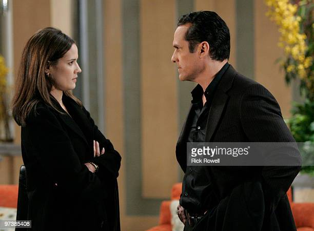 HOSPITAL Dahlia Salem and Maurice Benard in a scene that airs the week of March 8 2010 on Walt Disney Television via Getty Images Daytime's General...