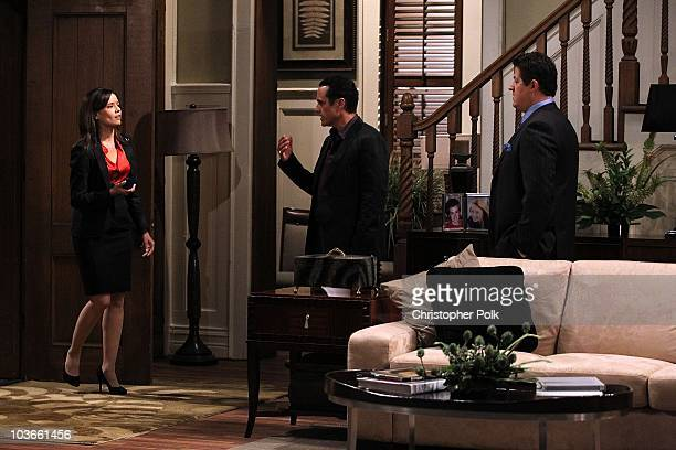Dahlia Salem, Derk Cheetwood and Maurice Benard in a scene that airs the week of September 13, 2010 on ABC�s GENERAL HOSPITAL .