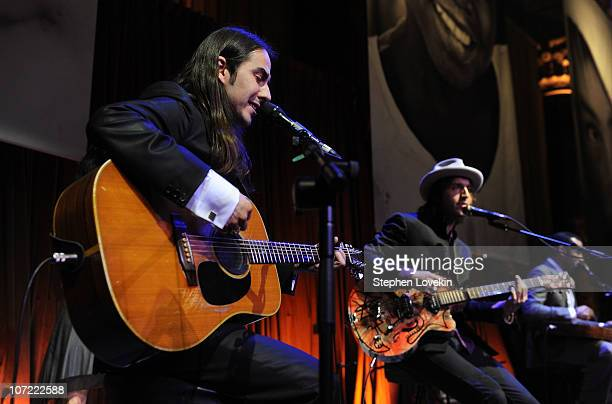 Dahni Harrison and Joseph Arthur of Fistful of Mercy perform at the 2010 UNICEF Snowflake Ball at Cipriani 42nd Street on November 30, 2010 in New...