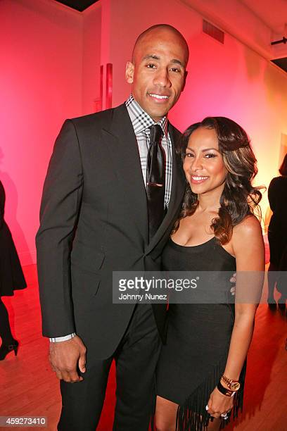 Dahntay Jones and Valeisha ButterfieldJones attend the 4th Annual WEEN Awards at Helen Mills Event Space on November 19 2014 in New York City