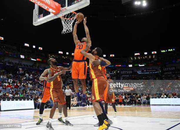 Dahntay Jones of 3's Company goes up for a dunk during the BIG3 Playoffs at Smoothie King Center on August 25, 2019 in New Orleans, Louisiana.