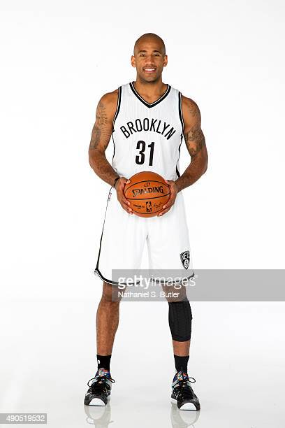 Dahntay Jones of the Brooklyn Nets poses for a photo during Media Day at the Brooklyn Nets Practice Facility NOTE TO USER User expressly acknowledges...