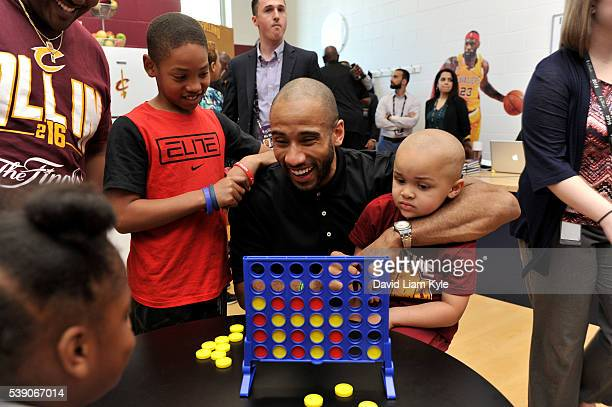Dahntay Jones of the Cleveland Cavaliers attends the 2016 NBA Finals Cares Legacy project as part of the 2016 NBA Finals on June 9 2016 at the Boys...