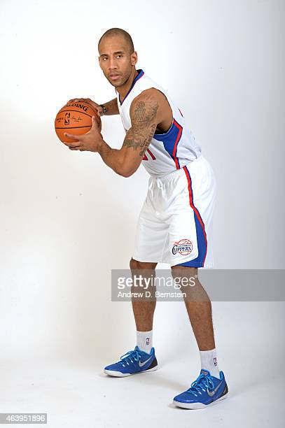 Dahntay Jones of the Los Angeles Clippers poses for a photo at the Los Angeles Clippers Training Facility on February 18 2015 in Playa Vista...