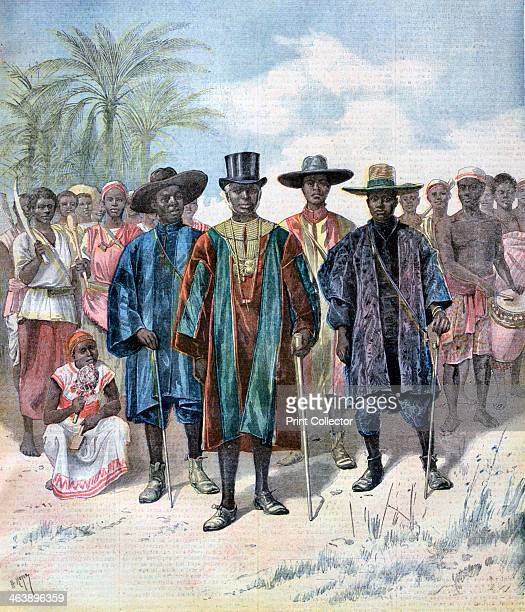 Dahomeans 1893 The kingdom of Dahomey was conquered by the French and made into a colony between 1892 and 1894 A print from the Le Petit Journal 22nd...