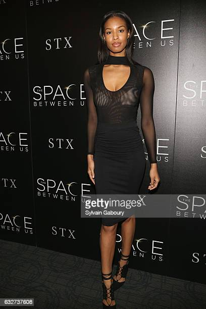 """Dai Frazier attends STX Entertainment with The Cinema Society Host a Screening of """"The Space Between Us"""" on January 25, 2017 in New York City."""