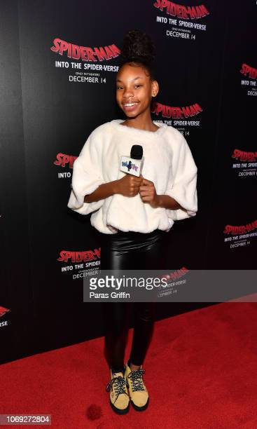 Dai Time attends 'Spiderman Into The SpiderVerse' Atlanta screening at Regal Atlantic Station on December 6 2018 in Atlanta Georgia